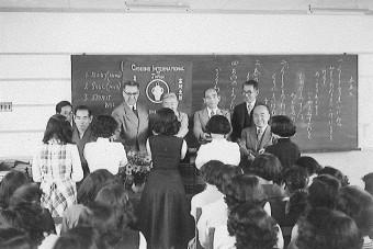日本での聖書贈呈(1950年代)